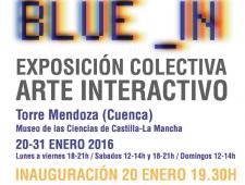 'BLUE _IN' exposición colectiva de arte interactivo
